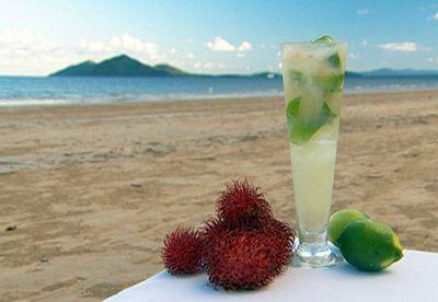 Rambutan and lime cocktail