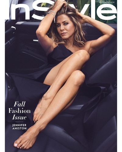 """Barefoot in a black Michael Kors dress and diamonds, Jennifer Aniston is effortlessly cool as she graces the cover of <a href=""""https://www.instyle.com/news/jennifer-aniston-september-cover"""" target=""""_blank"""" draggable=""""false"""">US <em>InStyle's</em> September issue.</a><br /> <br /> Snapped by Ben Hassett and styled by coveted fashion director, Julia Von Boehm, the former <em>Friends</em> star looks radiant in her first magazine cover since announcing her split from husband of three years, Justin Theroux, in February.<br /> <br /> The 49-year-old <em>Good Girl</em> actress has been the subject of endless tabloid fodder and public scrutiny since her first ill-fated marriage to Brad Pitt – which ended in 2005 – and it followed her into the second one. But it's her who is having the last laugh.<br /> <br /> """"For the most part I can sit back and laugh at the ridiculous headlines because they have gotten more and more absurd,"""" Aniston told writer Molly Mcnearney.<br /> <br /> """"I guess they're feeding into some sort of need the public has, but I focus on my work, my friends, my animals, and how we can make the world a better place. That other stuff is junk food that needs to go back in its drawer.""""<br /> <br /> <a href=""""https://style.nine.com.au/2017/08/11/15/48/style_jennifer-anistons-best-hairstyles"""" target=""""_blank"""" title=""""The woman who inspired millions of 'Rachel' haircuts in the '90s"""" draggable=""""false"""">The woman who inspired millions of 'Rachel' haircuts in the '90s</a> and is known for her eternal glow and <a href=""""https://style.nine.com.au/2016/10/25/09/21/aus-women-jennifer-anniston-miranda-kerr-jennifer-lopez-admire"""" target=""""_blank"""" title=""""super-fit physique"""" draggable=""""false"""">super-fit physique</a>, has long been hailed as a beauty icon, even earning the title of <em>People Magazine</em>'s 'Most Beautiful Woman in the World' in 2016.<br /> <br /> However, Aniston revealed that old-time beauty ideals and body expectations need a reality check.<br /> <br /> """"You know,"""