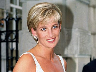 Princess Diana at a gala in London