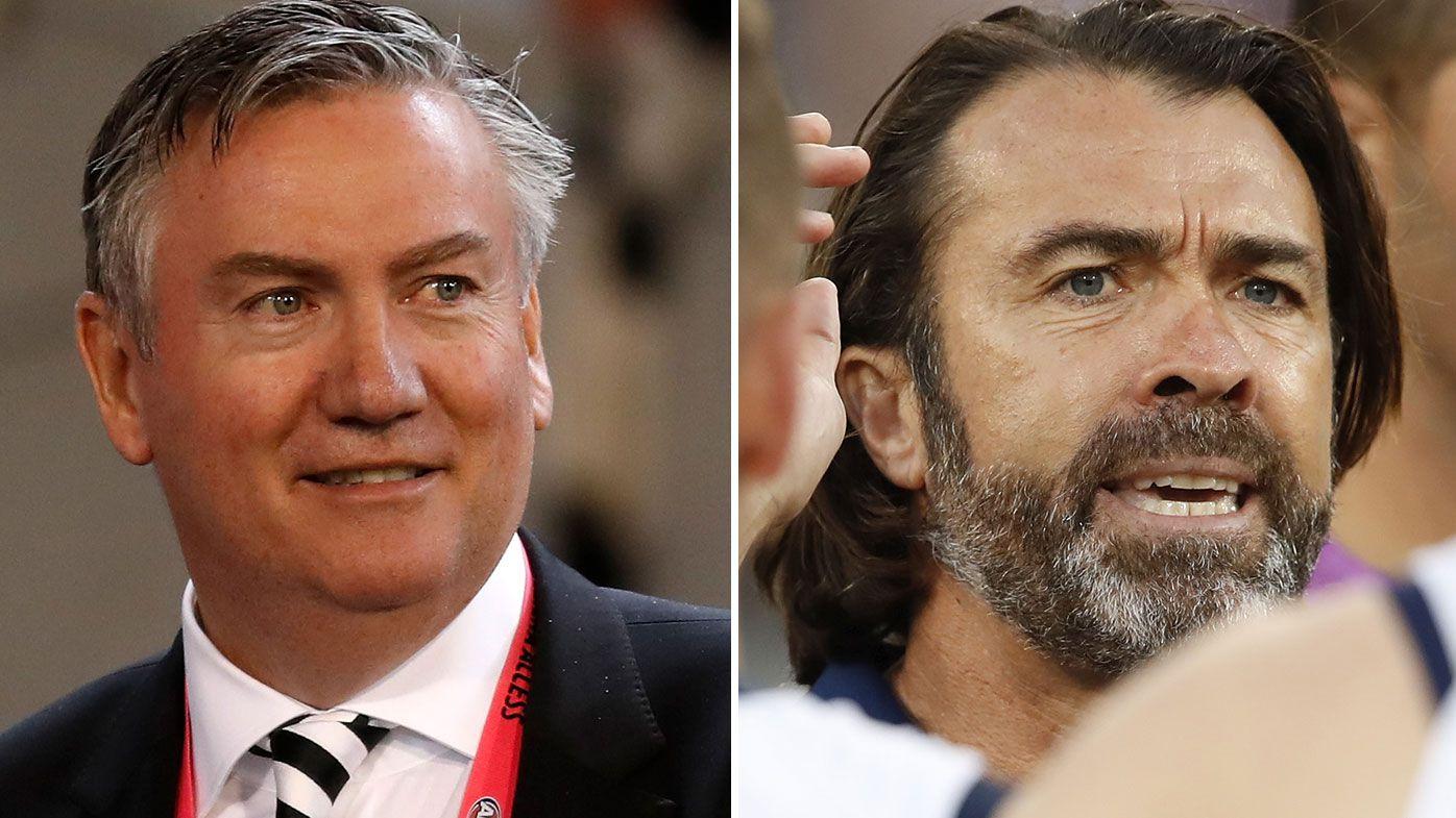Eddie McGuire denies he 'made up' claims about Geelong coach Chris Scott's behaviour