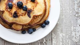 Protein berry and ricotta pancakes