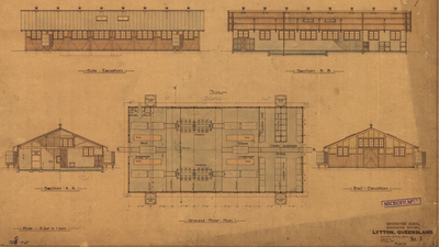 Plans for the disinfecting block at- Lytton Quarantine Station block, 1915.