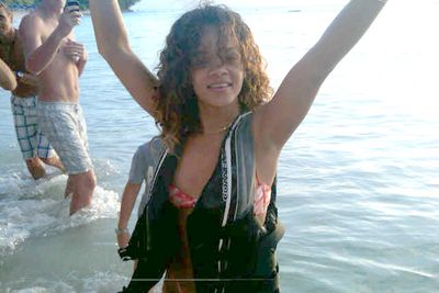Rihanna spent New Year's Eve in her home country, Barbados.