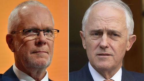 Former ABC chair, Justin Milne (left) and former prime minister Malcolm Turnbull (right). (AAP)
