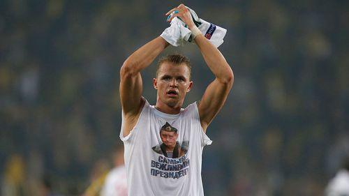 UEFA charge Lokomotiv's Tarasov over Putin Turkey t-shirt show