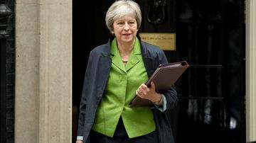 UK Prime Minister Theresa May ahead of crucial Brexit votes. (AAP)