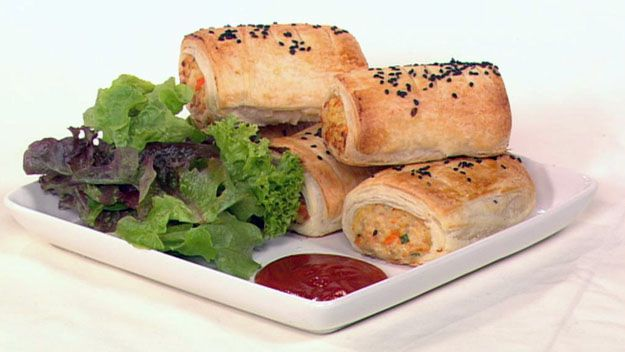 Family chicken sausage rolls