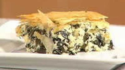 "Recipe:&nbsp;<a href=""http://kitchen.nine.com.au/2016/05/18/04/30/spanakopita"" target=""_top"">Spanakopita</a>"