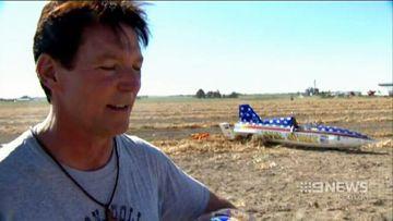 Rocket man succeeds in Evel Knievel-style stunt jump