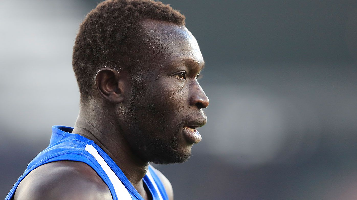 Majak Daw joins Kangaroos teammates back at club after Bolte Bridge incident