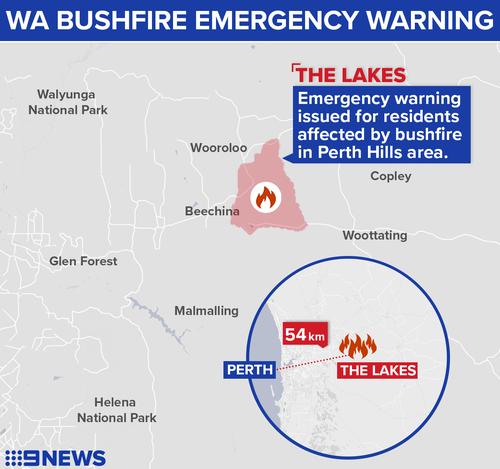 WA bushfire: Emergency level lowered with Mundaring region fire