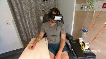 VIDEO: Sydney cancer centre offers patients a virtual reality escape