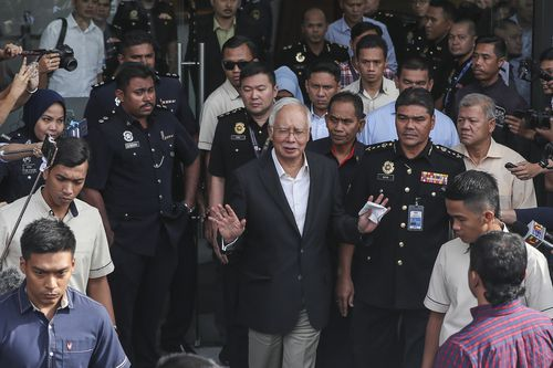 Malaysian government investigators have confirmed the arrest of former Prime Minister Najib Razak (EPA/FAZRY ISMAIL)