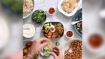 Hayden Quinn's free range chicken taco bowl