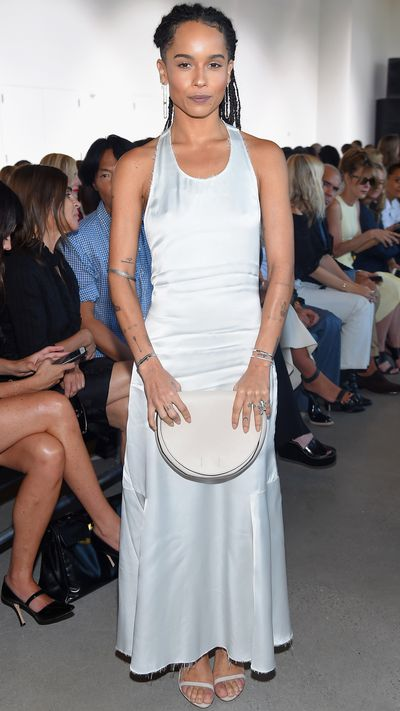 Front row at Calvin Klein's SS16 fashion week show.