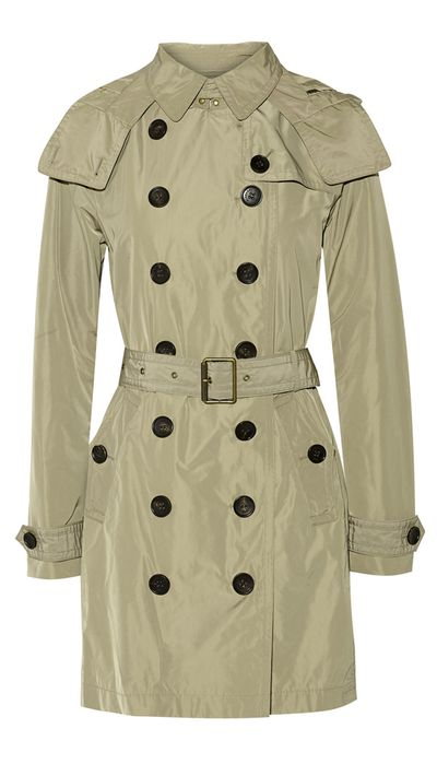 """<p><a href=""""http://www.net-a-porter.com/product/569985/Burberry_Brit/balmoral-packaway-hooded-shell-trench-coat"""" target=""""_blank"""">Balmoral Packaway Hooded Shell Trench Coat, $708, Burberry Brit at net-a-porter.com</a></p>"""