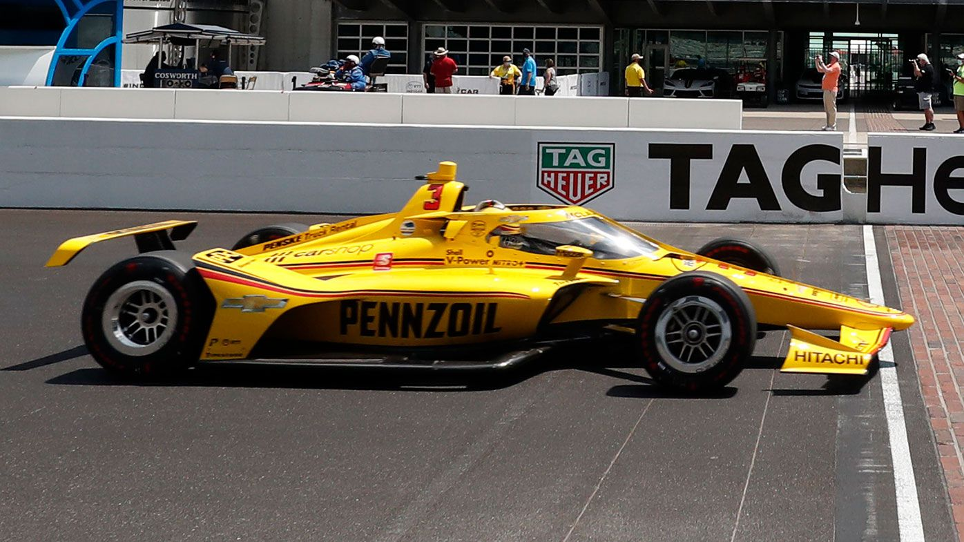 Scott McLaughlin during practice for the Indy500.