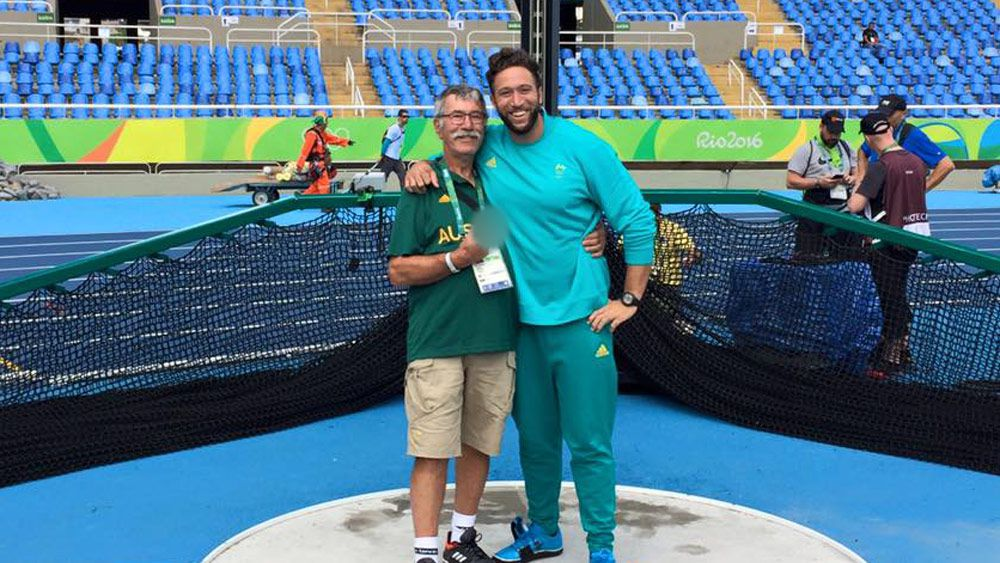 Olympian Ben Harradine and coach father Ken Harradine. (Facebook/Ben Harradine)