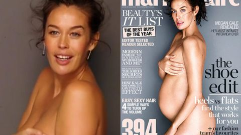 Watch: Pregnant Megan Gale 'terrified and liberated' on her nude Marie Claire shoot