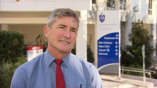 Professor Michael Wilson cut down Mr Love's recovery time by thinking outside the box. Picture: 9NEWS