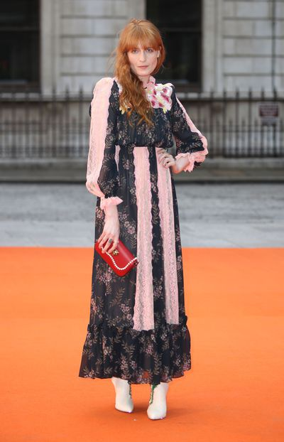 Florence Welch in Gucci at the Royal Academy of Arts summer exhibition.