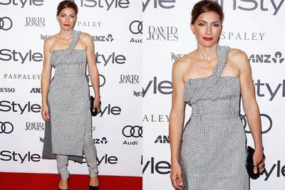 Is it a dress?! Is it pants?! No... it's just Claudia Karvan.