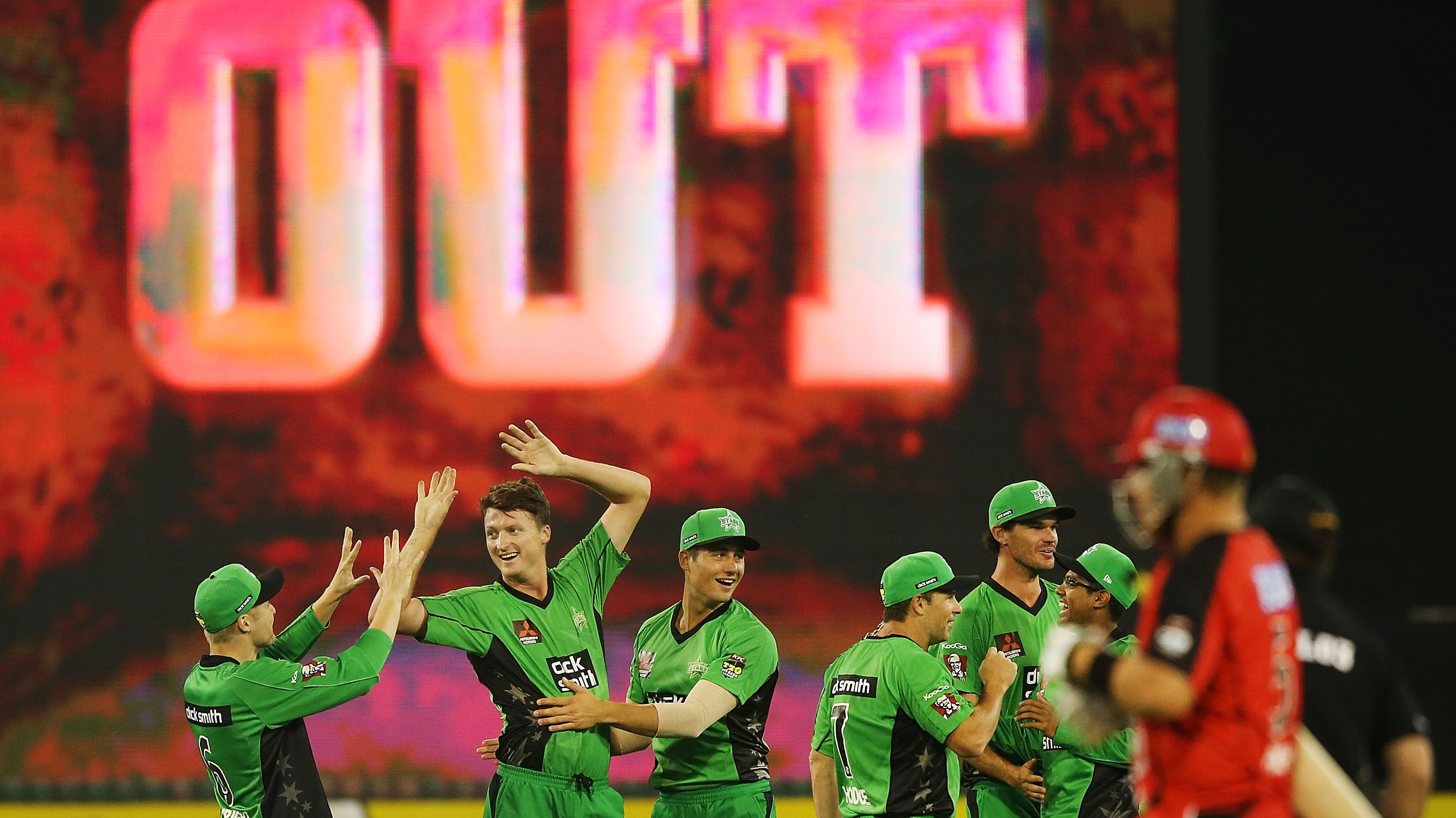 A Big Bash League match between the Melbourne Stars and the Melbourne Renegades.