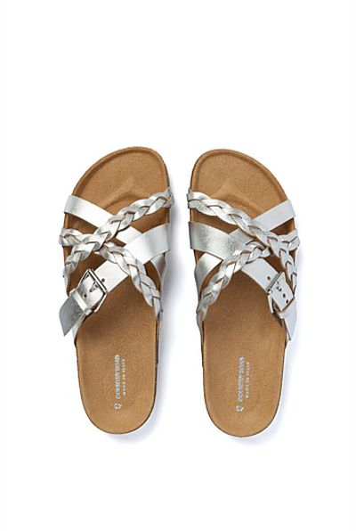 "<a href=""https://www.countryroad.com.au/shop/woman/shoes/sandals-and-thongs/60197801-901/Amanda-Braided-Slide.html"" target=""_blank"">Country Road</a> Amanda braided slide, $99.95<br>"