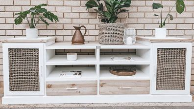 Aussie mum upcycles TV cabinet into stunning piece for $110
