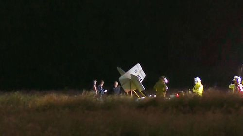 The experienced pilot died after crashing his home-made plane into a paddock in Laidley, west of Brisbane. (9NEWS)