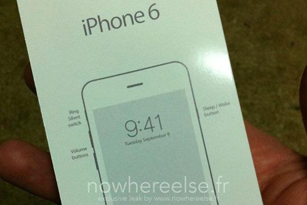 A leaked image purpotedly showing a new release date for the iPhone 6. (nowhereelse.fr)