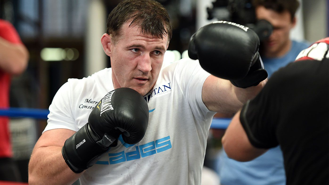 Former AFL star Shane Mumford sets sights on a potential Paul Gallen bout