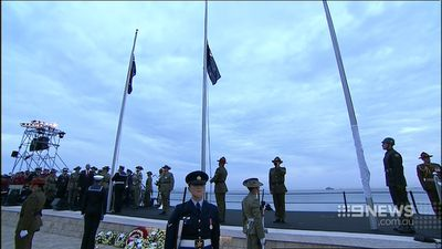 """If they were not still emblematic of the nation we think we are, we would not be here today,"" Mr Abbott said. (9NEWS)"
