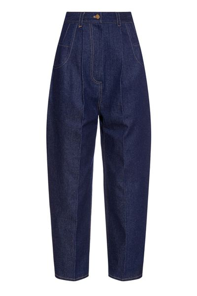 <p>It seems every luxury brand has introduced a token denim style to their offering, and Hillier Bartley is no exception. This voluminous, deep-waisted 'mum' jean is not for the faint of heart, but likely to join Vetements' and Rachel Comey's signature jeans as one of the season's buzziest styles.</p>