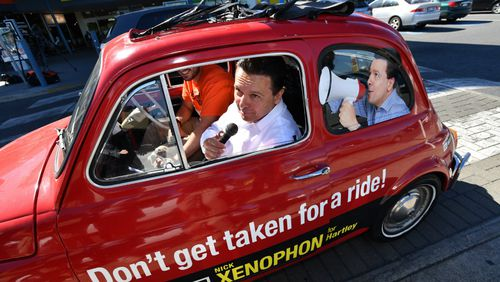 Mr Xenophon has been told his car breaches the Electoral Act. (AAP)