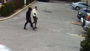 Police said CCTV shows the men arrived in a stolen car that has not been recovered and have released the footage in a bid to find them.
