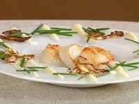 Roasted Scallops with Cauliflower, Capers and Saltanas
