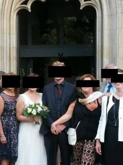 Clingy mother-in-law's wedding photo shocks bride