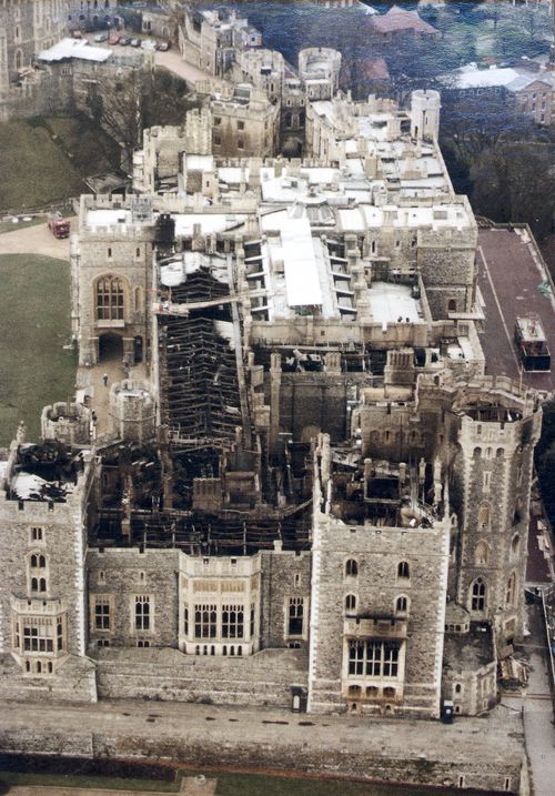 100 rooms in the castle were destroyed. Picture: Getty