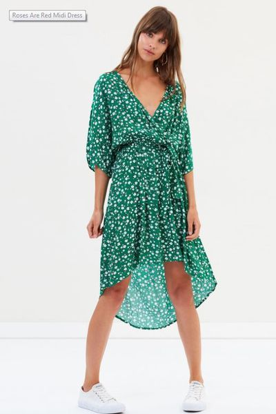"""<p><a href=""""https://www.theiconic.com.au/roses-are-red-midi-dress-551563.html"""" target=""""_blank"""" draggable=""""false"""">Minkpink roses are red dress</a>, $99.95</p> <p><br> </p>"""