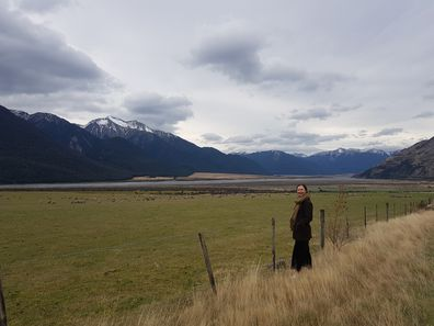 On the road between Arthur's Pass and Christchurch