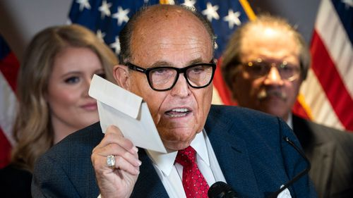 Rudy Giuliani has tested positive for Covid-19, President Trump announced.