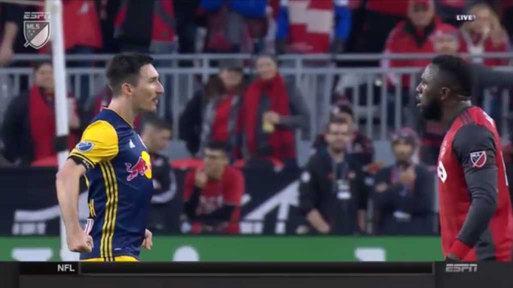 MLS players shown red cards for tunnel altercation