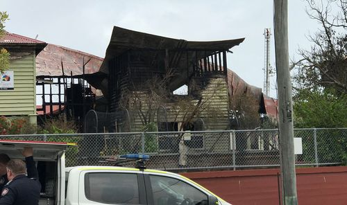The exact cause of the fire, which took around 50 firefighters to control, is unknown but 9NEWS understands several teenagers have been questioned by police.