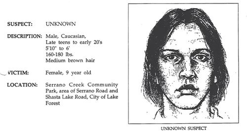 A 1995 wanted poster for a sexual predator.