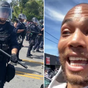 Actor Kendrick Sampson hit by rubber bullets