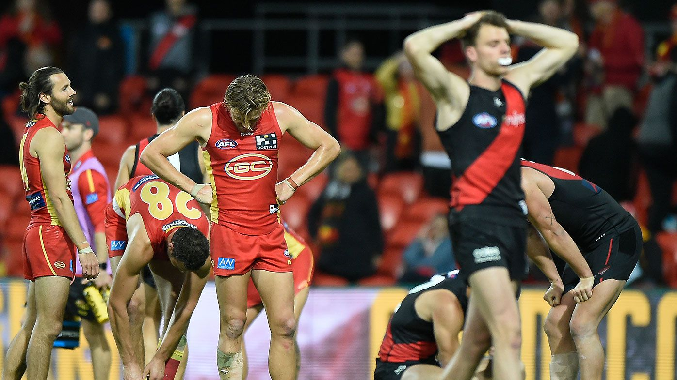 Suns youngster Izak Rankine misses go-ahead attempt in drawn thriller against Essendon