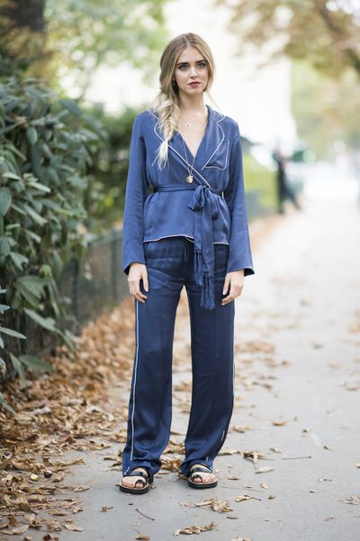 Chiara Ferragni in Chloe and Celine shoes, outside Chloe, Milan Fashion Week