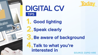 Tips for creating a video CV.
