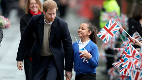Sophia told the prince she wants to be an actress when she grows up. (PA/AAP)
